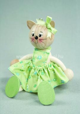 Cica lány, zöld